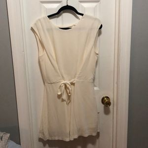 Zara Basics Collection Tie Front Romper Open Back